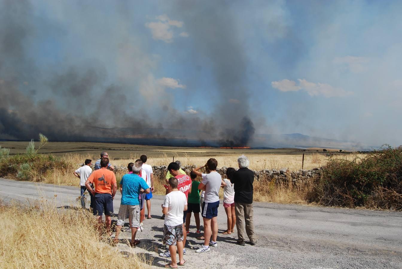 Fincas amenazadas por un incendio entre Trujillo y Madroñera