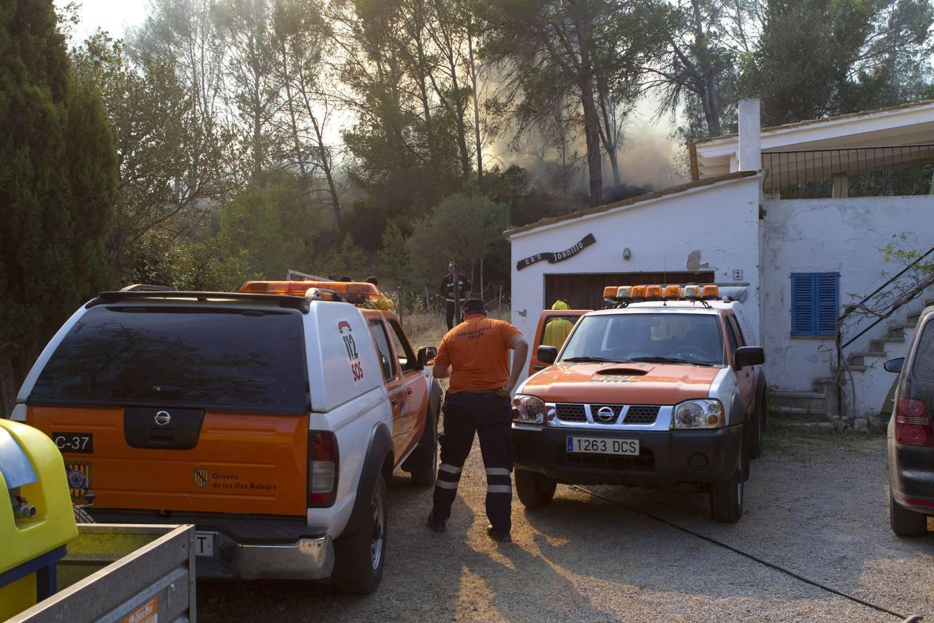 Las labores de extinción en Mallorca