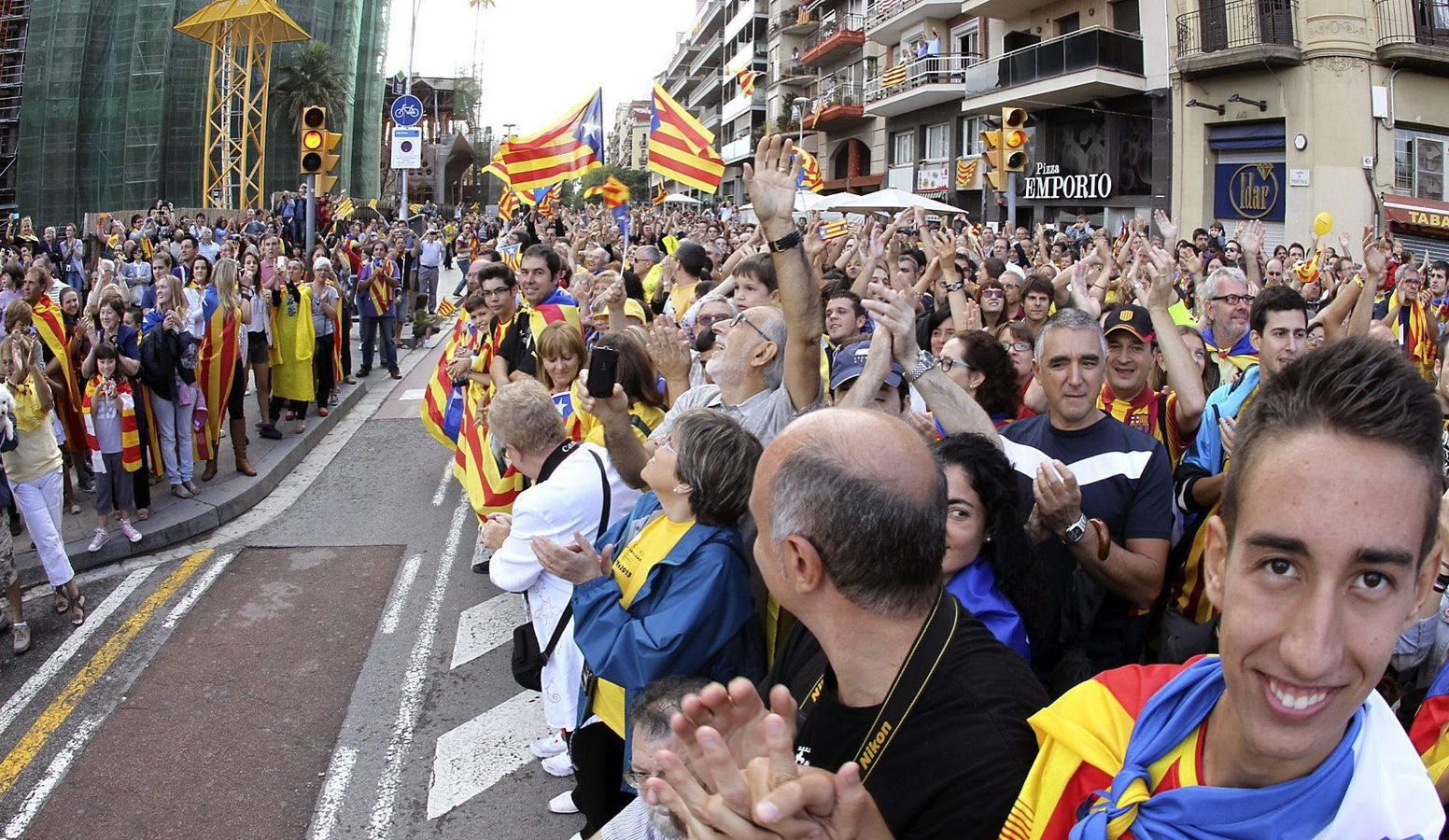 Cadena humana independentista en Cataluña