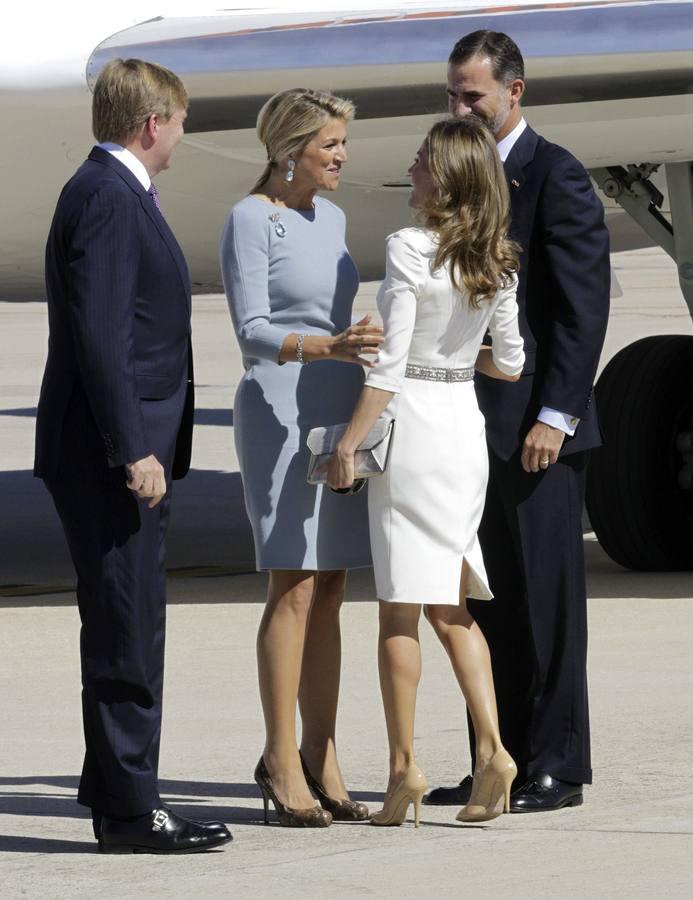 Los reyes de Holanda visitan España