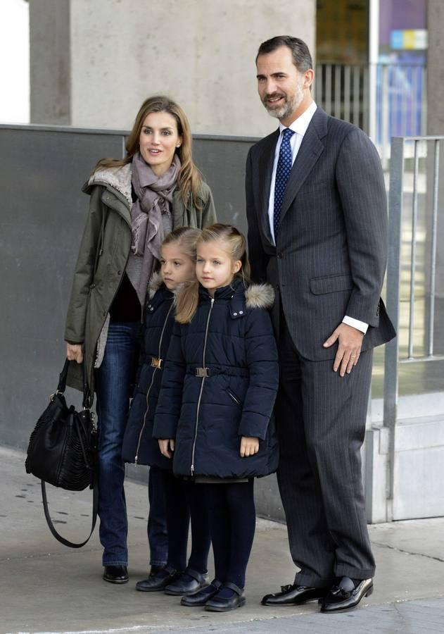Los Príncipes de Asturias, en el Hospital Quirón