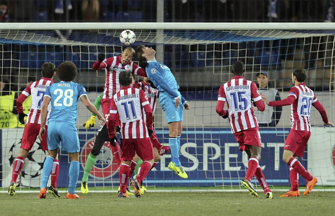 El Atlético se lleva un empate de la fría San Petersburgo