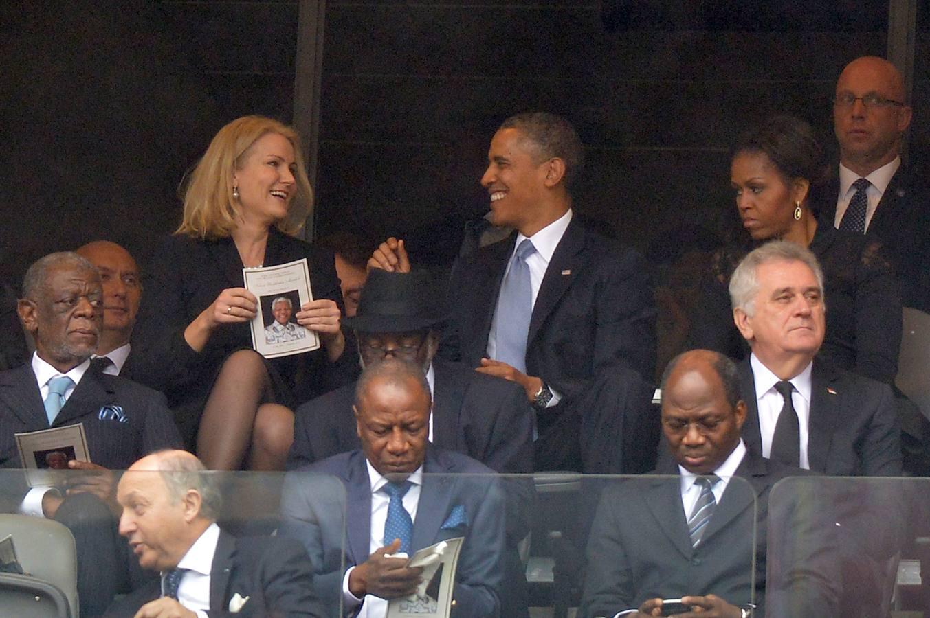 Michelle zanja el flirteo de Obama con la primera ministra danesa
