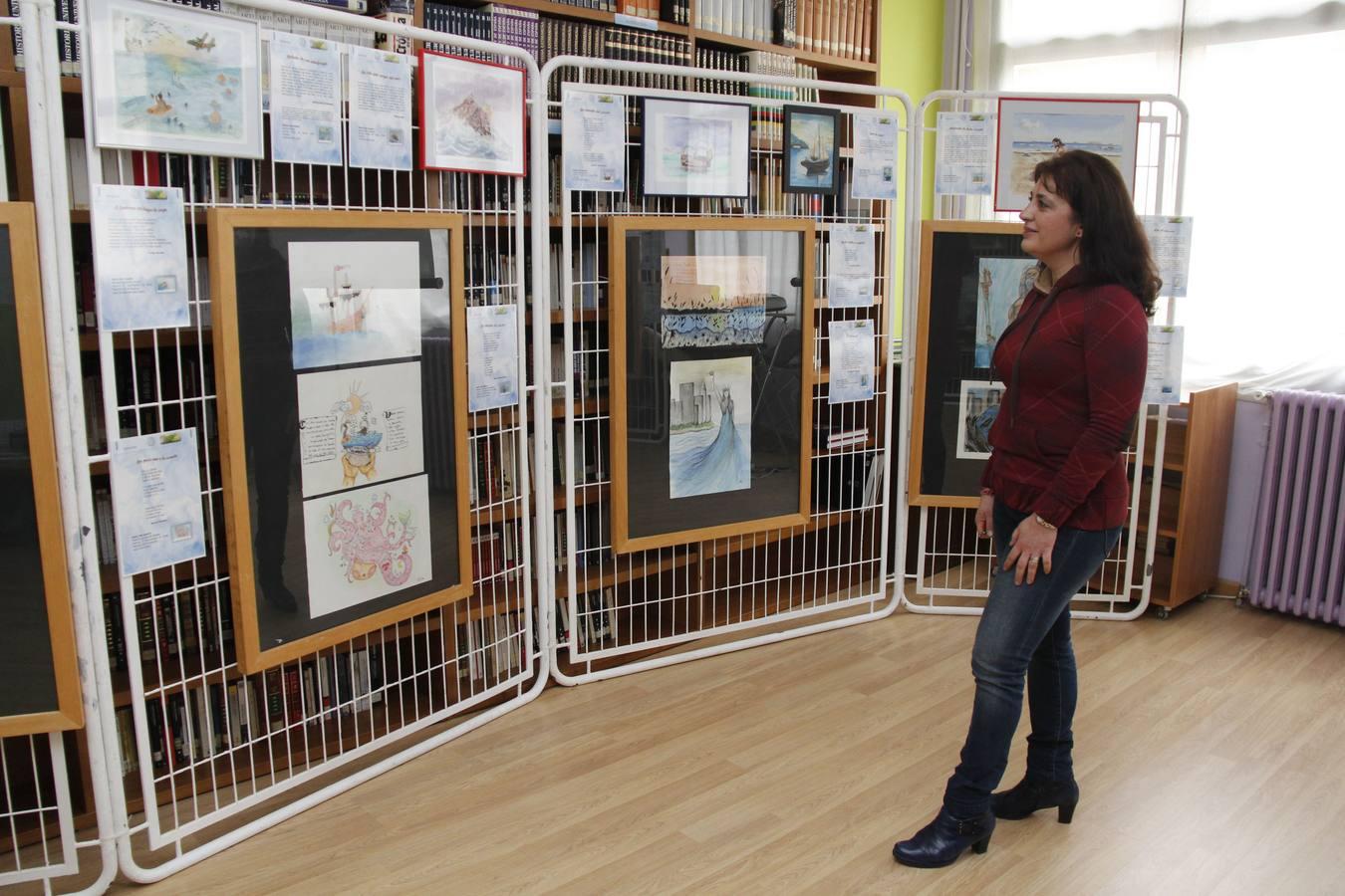 Exposición 'Mar de letras' en el centro de adultos