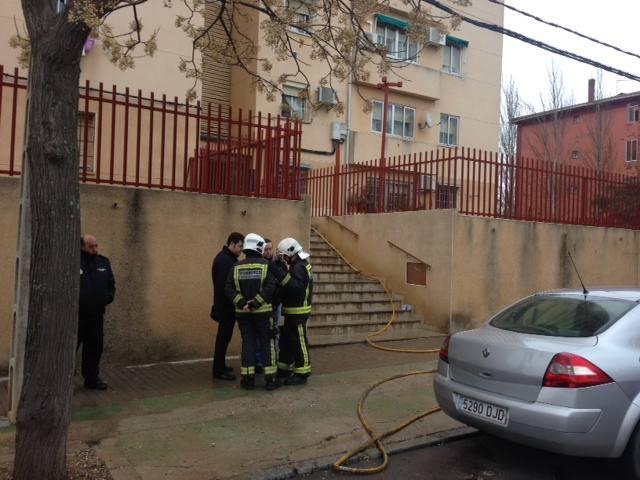 Incendio en una vivienda del barrio de las 300 de Cáceres