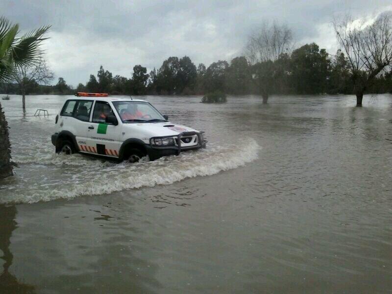 Inundaciones en las Vegas Altas del Guadiana