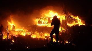 Fuego en Valparaíso
